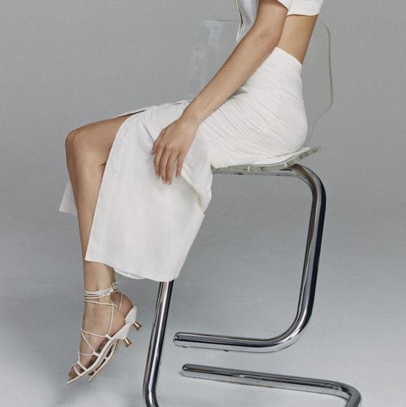 Zara Strappy Square Toe Sandals, Size 9